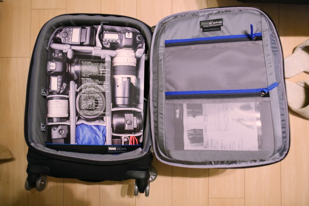 エアポートローラーダービー、thinkTANKphoto、カメラバッグ、カメラキャリーバッグ、プロカメラマン、フォトグラファーバッグ、キャリーバッグ、ウェディング